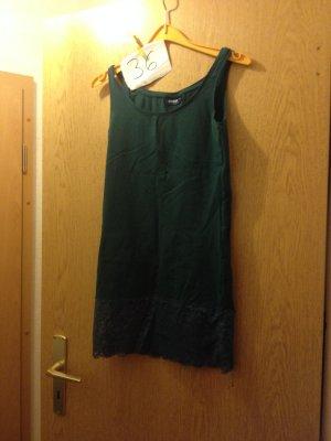 Janina Camisa larga verde oscuro Licra