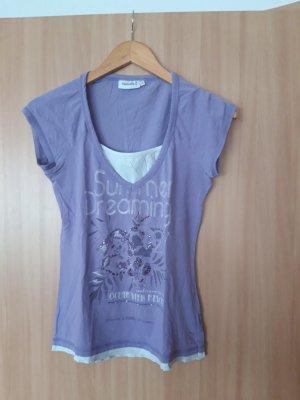 Damen Oberteil T-Shirt Yessica lila Größe S