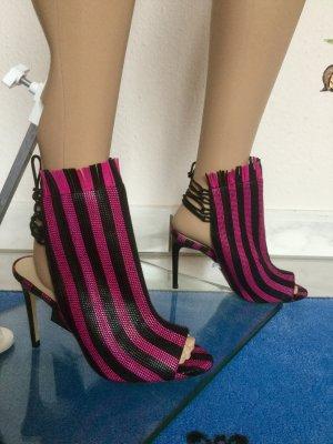 Damen Offene Leder- Sandale Absatzsandale von Zara Gr.38