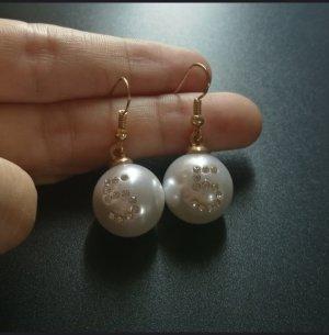 Bungeloorbellen wit-goud