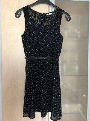 Only Kanten jurk zwart-wit
