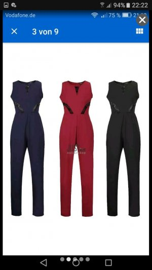 Damen Overall Jumpsuit in Weinrot gr.S M