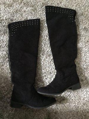 Graceland Kniehoge laarzen zwart