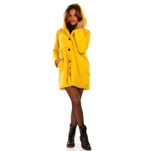 Damen Oversized Jacke Herbst Winter Mantel mit Schalkapuze