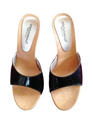 Dolce & Gabbana Mules black leather