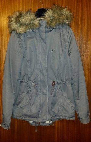 Damen Parka Jacke Übergangsjacke in grau von H&M divided , Gr. 34