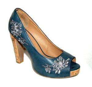 Damen Plateau - High Heels - Pumps - Peeptoos von Graceland Gr.38