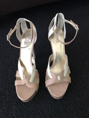 Guess Platform High-Heeled Sandal nude-beige leather