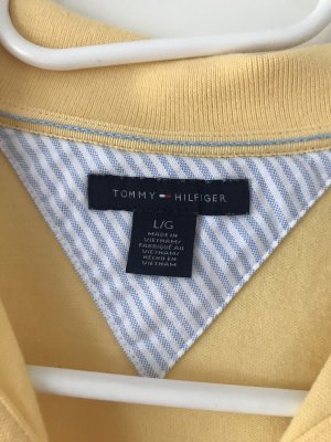 Tommy Hilfiger Polo Shirt pale yellow cotton