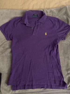 Polo Ralph Lauren Polo viola scuro-giallo