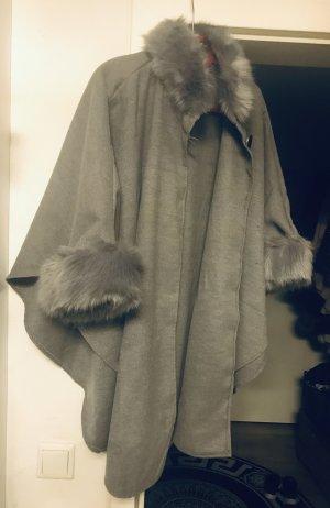 Fake Fur Coat grey