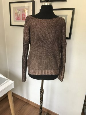 "Damen Pulli in Metalicoptik ""crop"""
