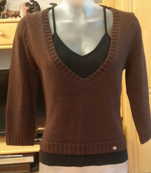 Damen Pullover 2 in 1 strick Designer Gr.38 von OUI MOMENTS NW