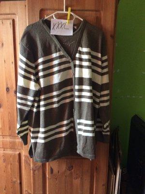 Jersey de lana blanco-marrón