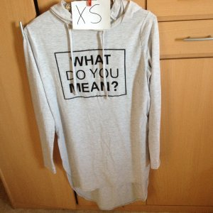 FB Sister Long Sweater light grey-black cotton