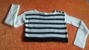 Damen Pullover Angora Wollmix Pailletten Design Gr.S von Promod NW