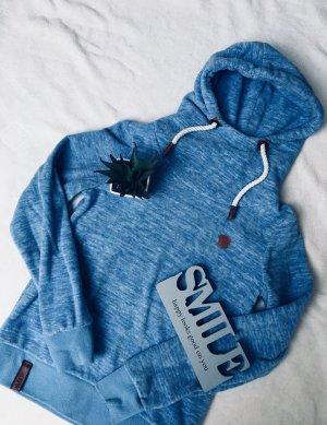 Damen Pullover blaue Pulli Hoodie Kapuzen Pullover Damen