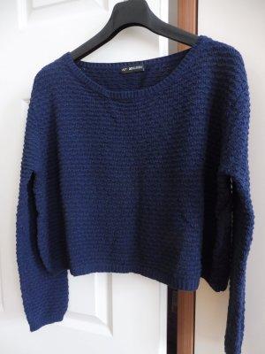Damen Pullover Größe L Blau Baumwolle