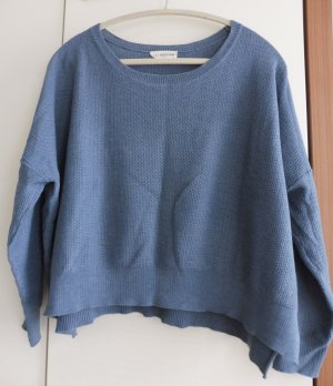 24Colours Oversized Sweater slate-gray-pale blue cotton