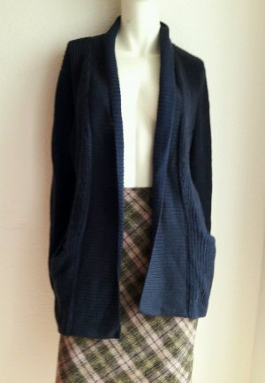 Damen Pullover Long Strickjacke Jacke Von EDC Gr. S Blau Wolle
