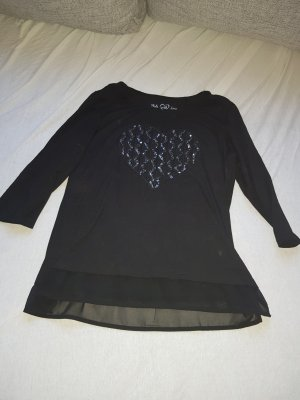 Canda Sweater black-silver-colored