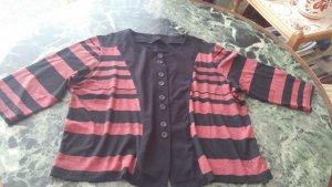 Damen Pullover Shirt Gr. 42-44 Teilweiße gestreift sehr weich und leicht