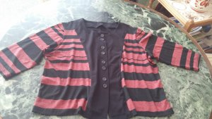 Kimono sweater zwart-karmijn Viscose