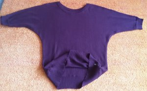 Damen Pullover Strick Fledermausärmeln Gr.L in Maulbeere von H.I.S