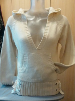 Damen Pullover strick Kapuzen Pullover Gr S in Beige von myown