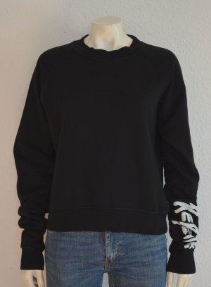 Tigha Sweatshirt zwart-wit Katoen