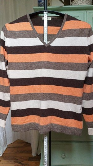 Christian Berg Wool Sweater bronze-colored-light orange