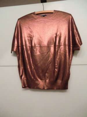 COS Short Sleeve Sweater bronze-colored cotton