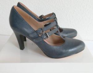 5th Avenue Chaussures bleu pétrole cuir
