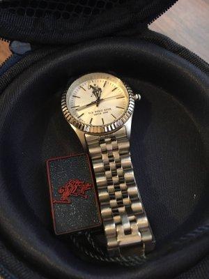 Active USA Horloge met metalen riempje zilver