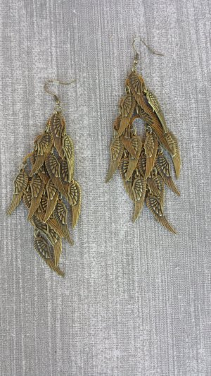 Damen Retro Steampunk feather earrings