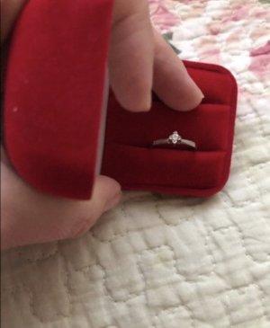 Damen Ring 585 Weißgold mit Brilliant