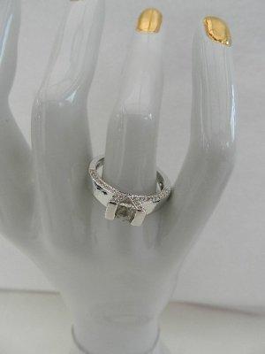 Anello di fidanzamento argento-bianco