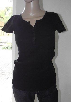 Basefield Camisa acanalada negro