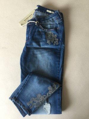 American Vintage Vaquero skinny azul aciano-azul acero Algodón