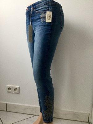 American Vintage Skinny jeans korenblauw-staalblauw