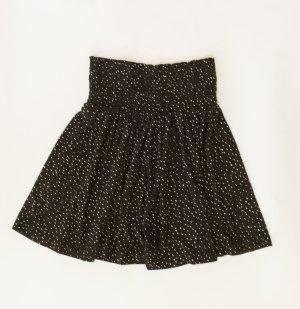 Damen Rock schwarz mit weißen Tupfen, Gr. XS, Minirock