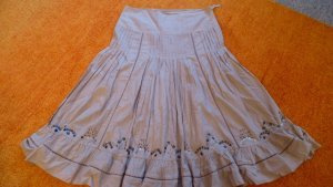 Lisa Campione Broomstick Skirt beige cotton