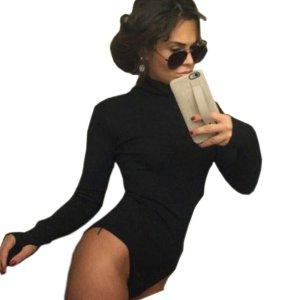 Damen Rollkragen Bluse langarm pullover pulli Top Oberteile große S, 36