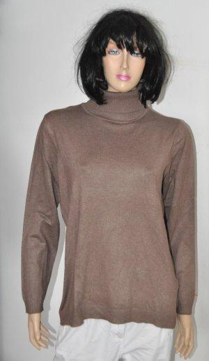 Bluhmod Jersey de cuello alto marrón oscuro poliamida
