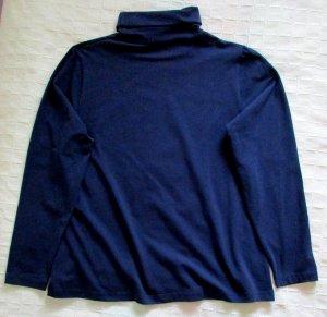 Damen Rollkragen Pullover Langarm Pulli dunkelblau blau BW Stretch uni