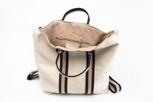 Borse in Pelle Italy Laptop Backpack oatmeal leather