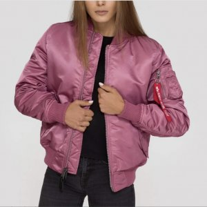 Damen S Alpha Industries Bomberjacke dusty pink MA-1 SF