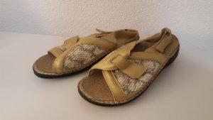 Sandales confort doré-blanc cassé
