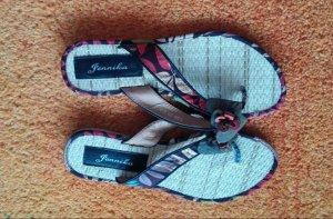 Jennika Sandalo toe-post multicolore Fibra tessile