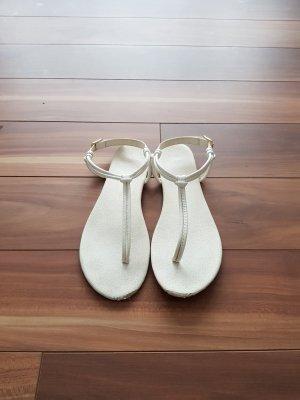 Damen Sandalen Zehentrenner in weiß Gr. 37